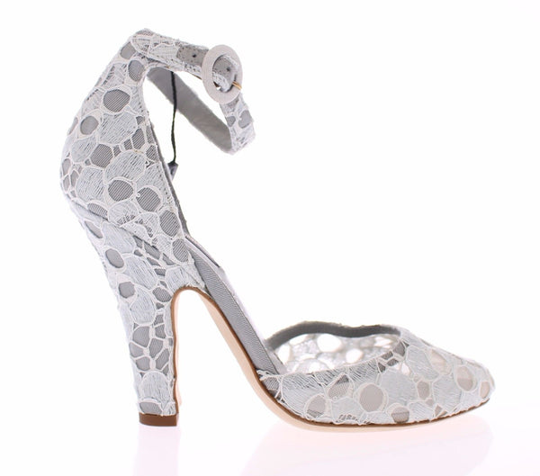 Blue Floral Heel Mary Janes Pumps Shoes