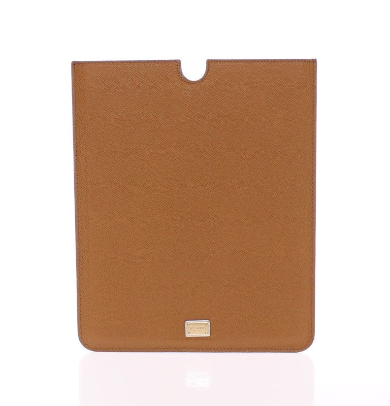 Brown Leather iPAD Tablet eBook Cover Bag