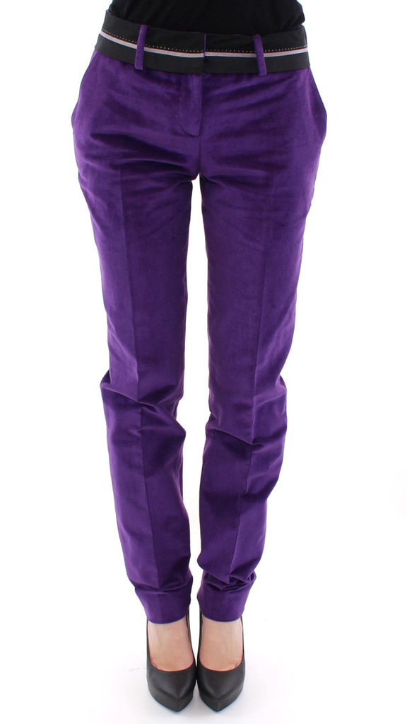 Purple Cotton Corduroys Jeans