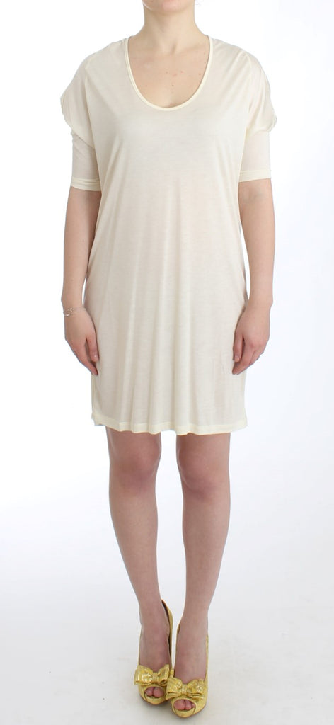 White modal tube dress