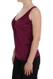 Purple Sleeveless Top Blouse
