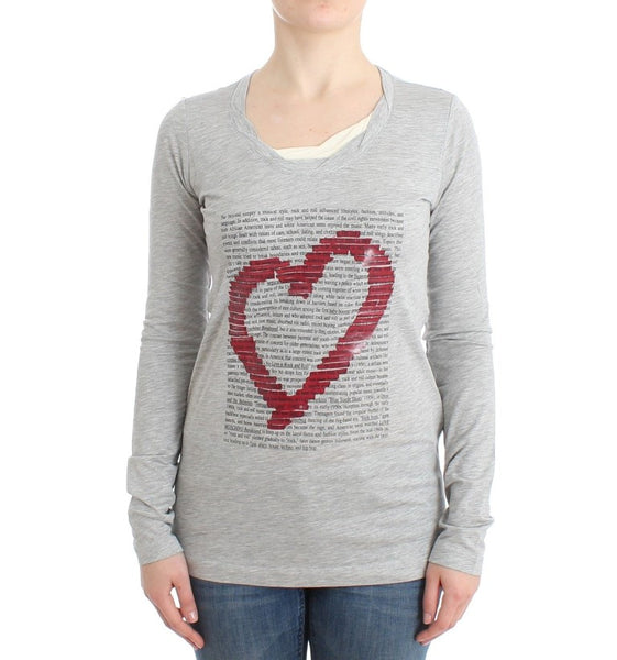 Gray longsleeved cotton top