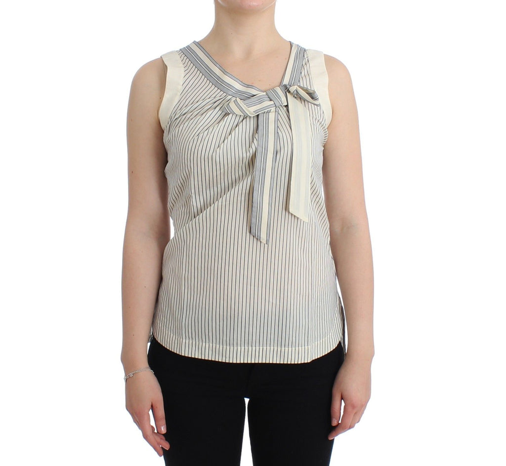 Beachwear Striped Top Blouse Shirt Bow Tank