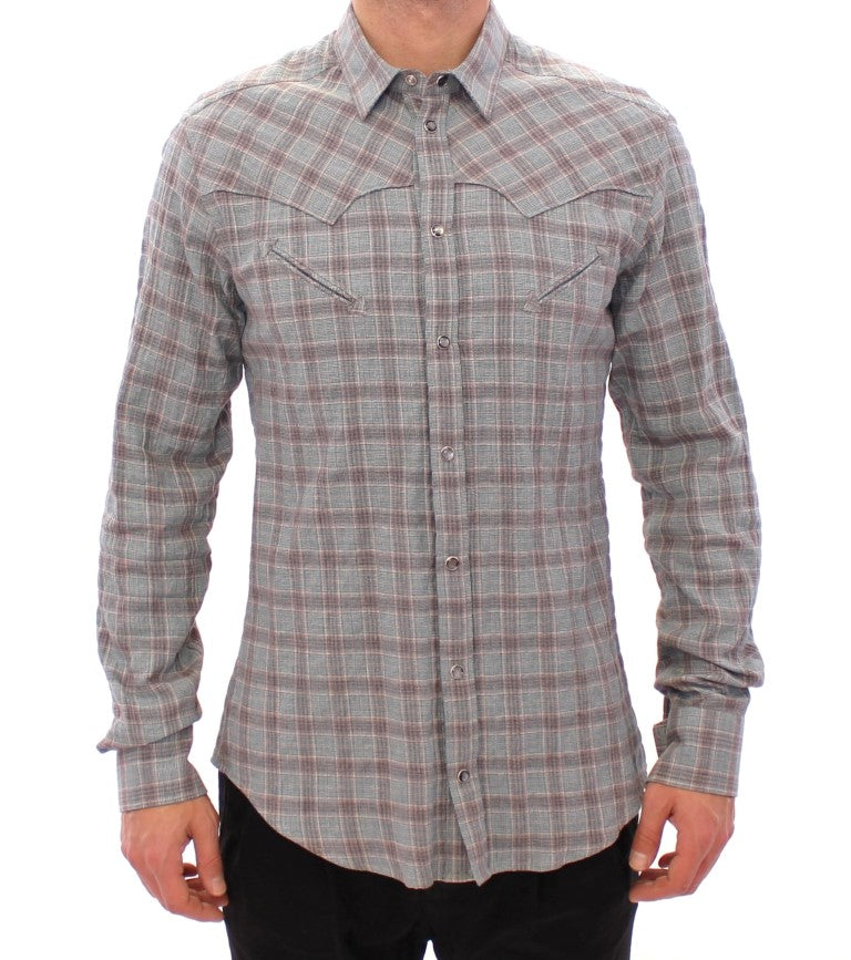 Blue Checkered SICILIA Regular Casual Shirt