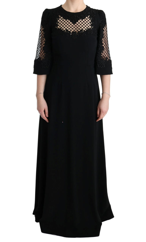 Black Stretch Shift Long Maxi Dress