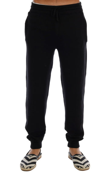 Black Cashmere Gym Training Sport Pants
