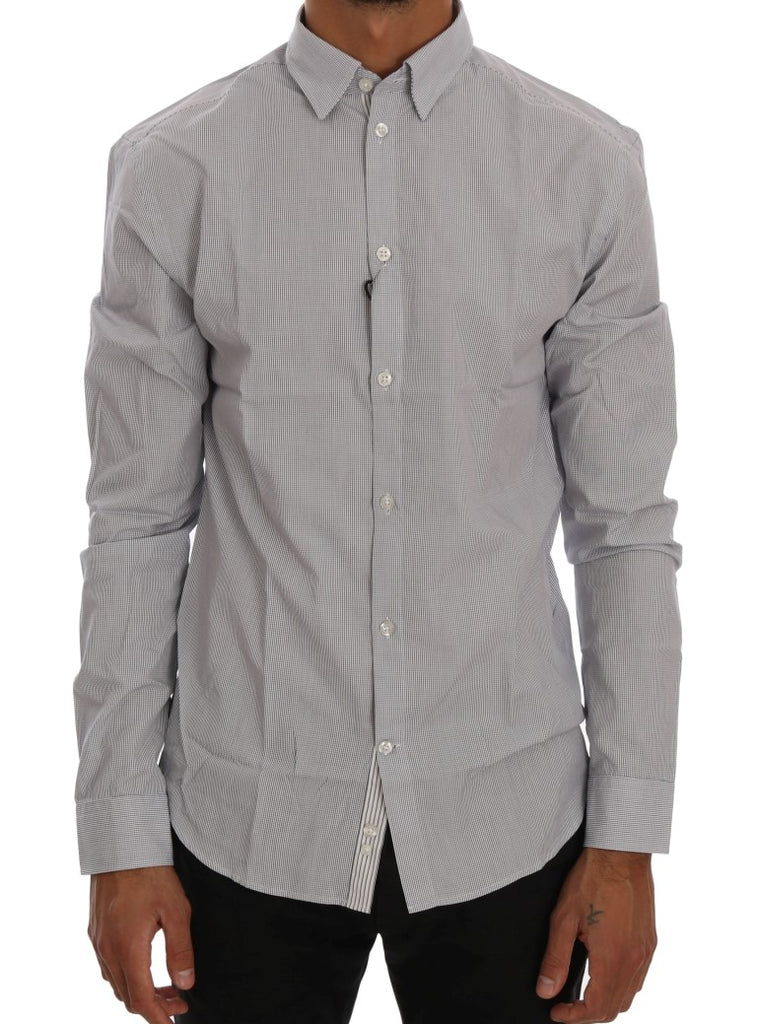 White Blue Check Casual Cotton Regular Fit Shirt