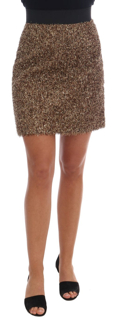 Gold Black Short Mini Skirt
