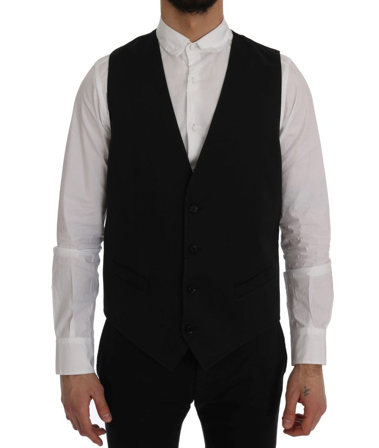 Black STAFF Cotton Vest