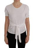 White Cotton Silk T-Shirt