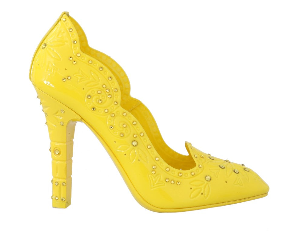 Yellow CINDERELLA Crystal Shoes