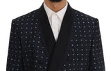 Blue Silk Double Breasted 3 Piece Suit