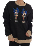 Black Fairy Tale Brocade Zipper Sweater