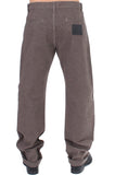 Brown Cotton Regular Fit Casual Pants