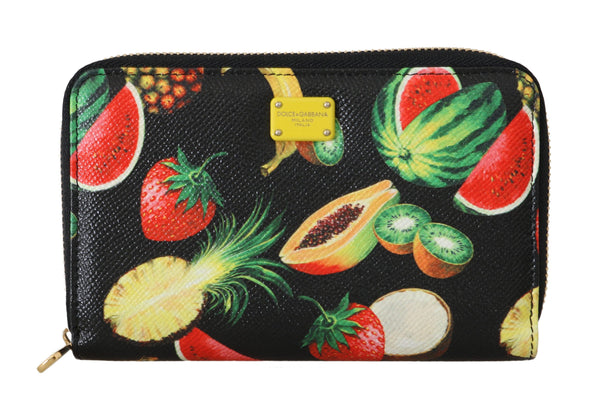 Fruit Leather Dauphine Zip Around Continental Wallet