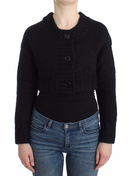 Black cropped cardigan