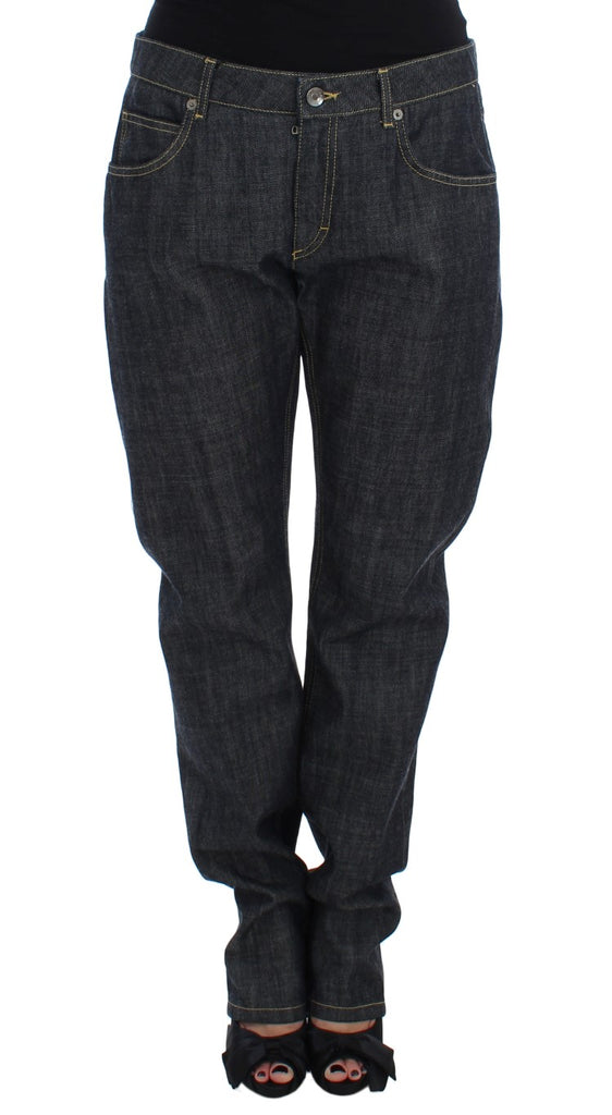 Blue Cotton Oversize Denim Jeans
