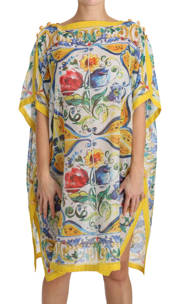 Tunic Blouse Majolica Silk Cotton Top