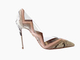 Aquazzura - Damen Schuhe - Snake Frankie Heels -Nude -Shoes- Pumps - EU 39