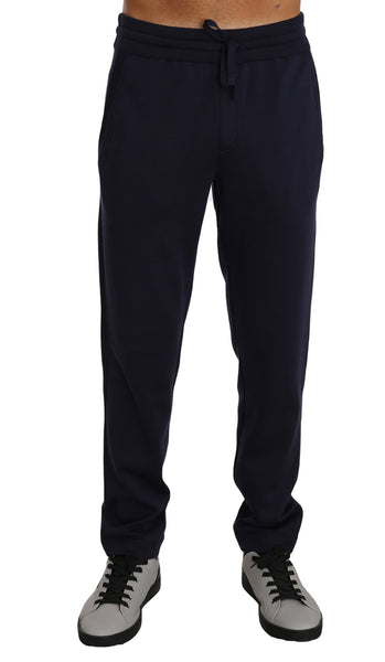Blue 100% Silk Casual Lounge Sweatpants