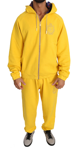 Yellow Cotton Sweater Pants Tracksuit