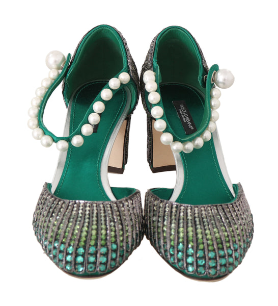 Green Leather Loafers Moccasins Slides Shoes
