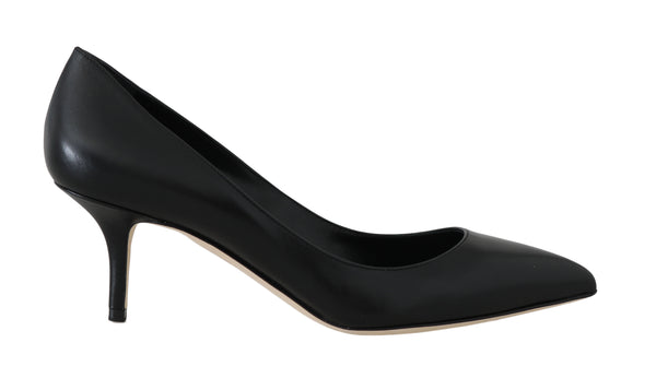 Black Soft Nappa Leather Pumps