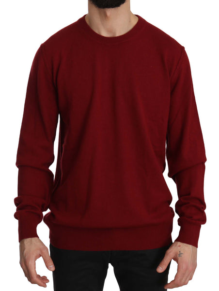 Red Crewneck Pullover 100% Cashmere Sweater