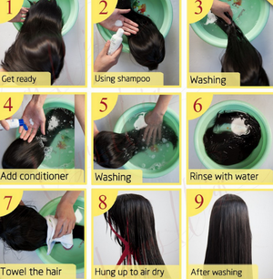 Washing your hair extensions