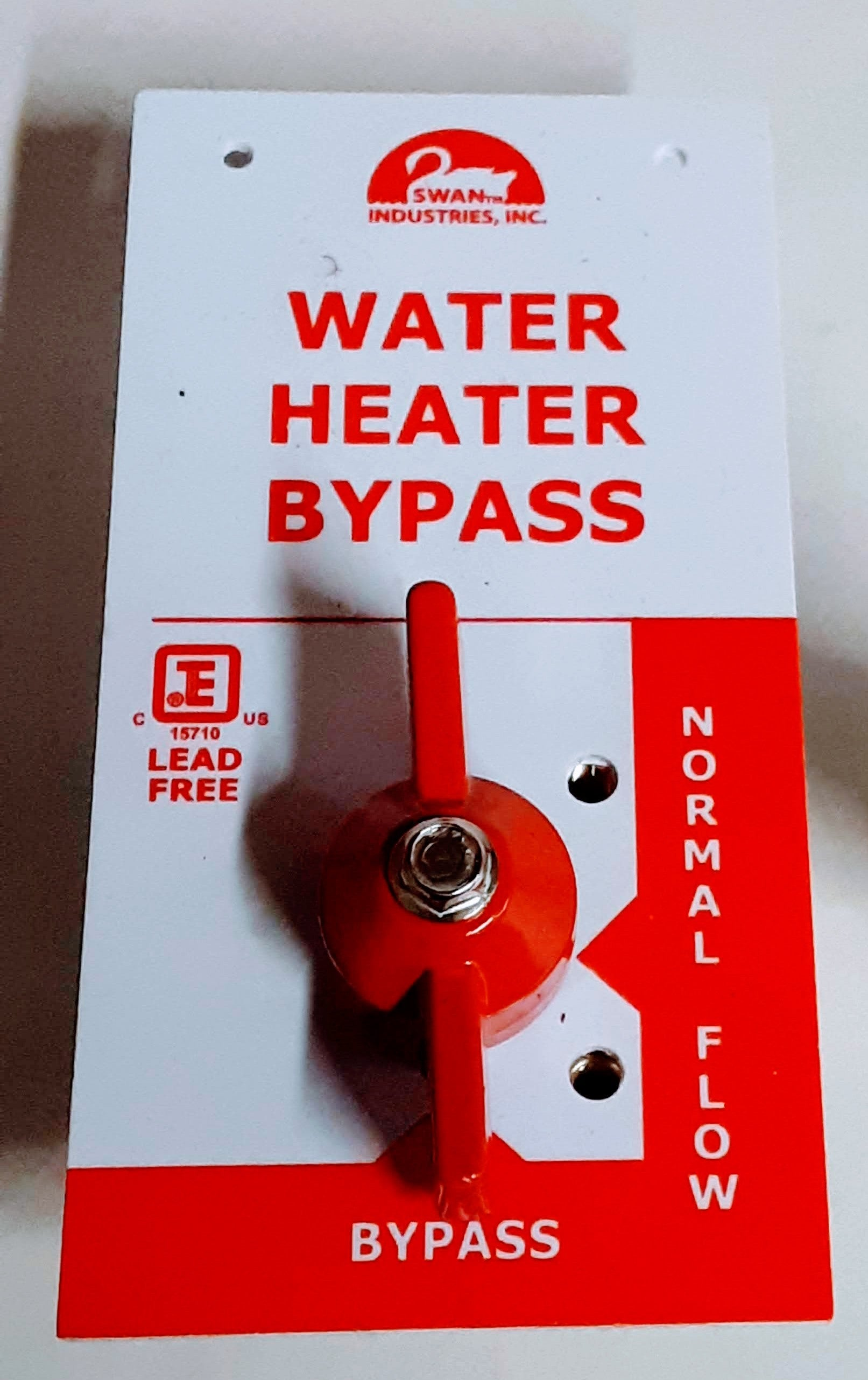 RMV100 - Manual Water Heater Bypass