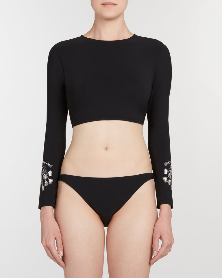 rash guard set in black - ALSTRAE