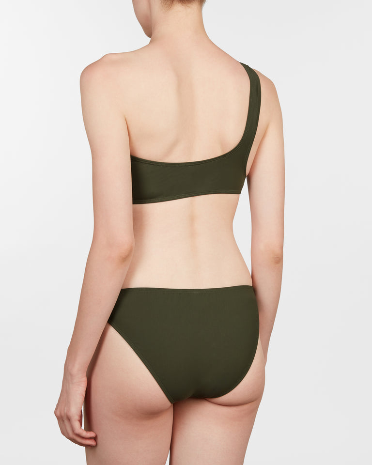 one shoulder II set in olive - ALSTRAE