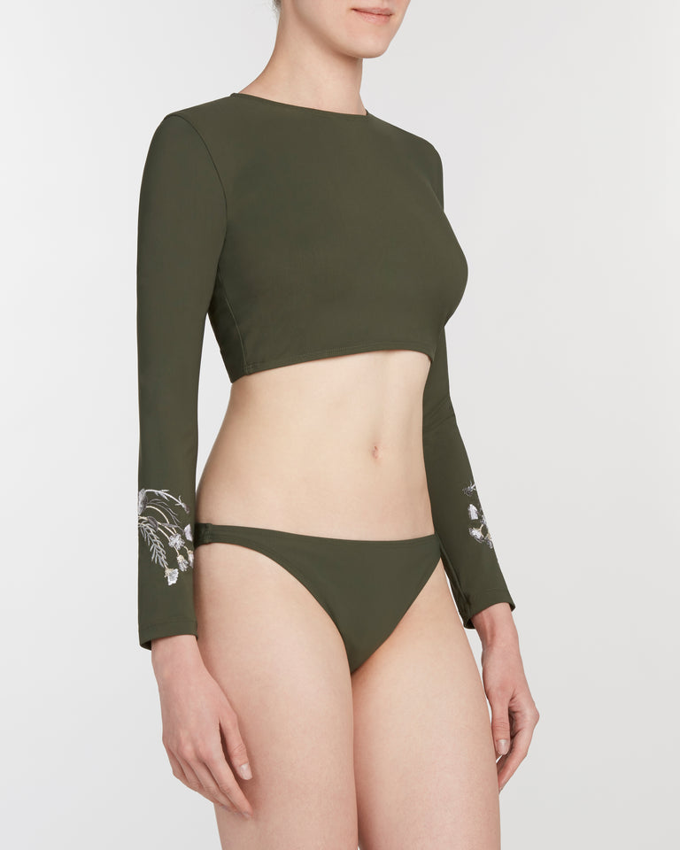 rash guard set in olive - ALSTRAE