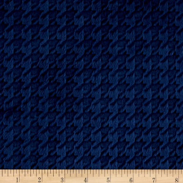Embossed Houndstooth Navy