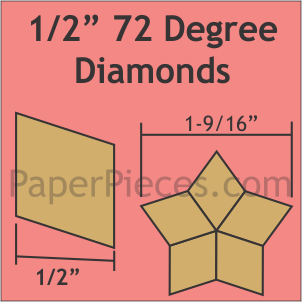 "1/2"" 72 Degree Diamonds: Bulk Pack - 2520 Pieces"