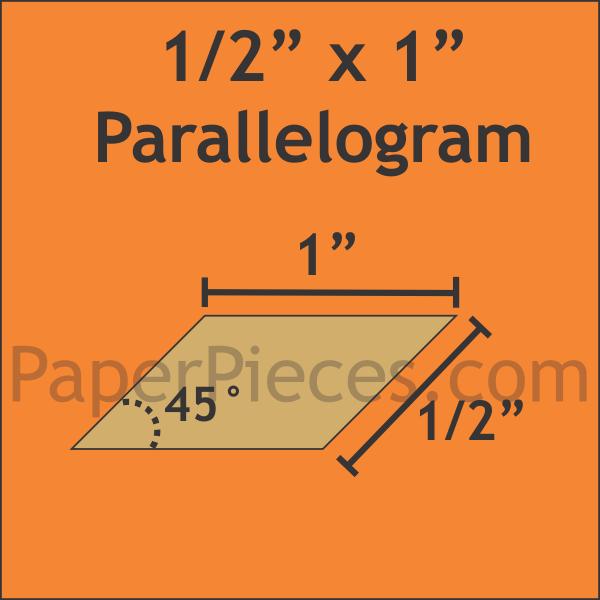 "1/2"" x 1"" 45 Degree Parallelograms: Bulk Pack - 1200 Pieces"