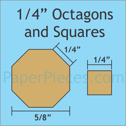 "1/4"" Octagons and Squares: Bulk Pack - 2400 Pieces"