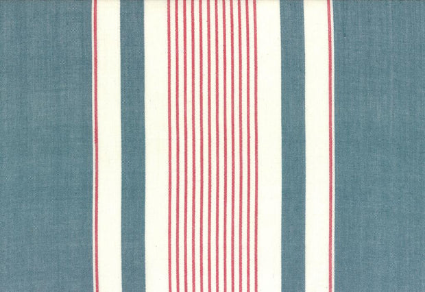 "16"" Picnic Point Tea Red Blue White Toweling"