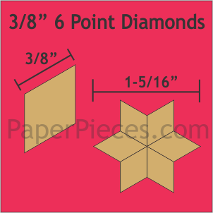 "3/8"" 6 Point Diamonds: Bulk Pack - 1200 Pieces"