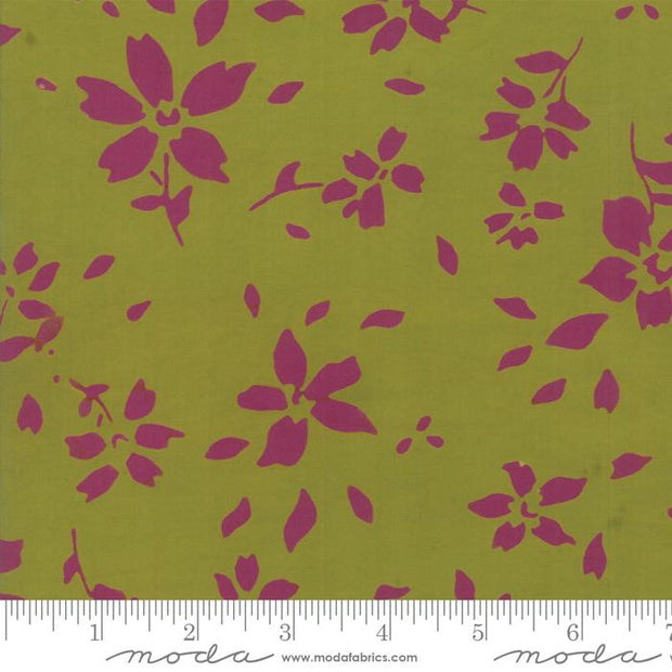 "54"" Bazaar Rayon Batik Chartreuse Light Green"