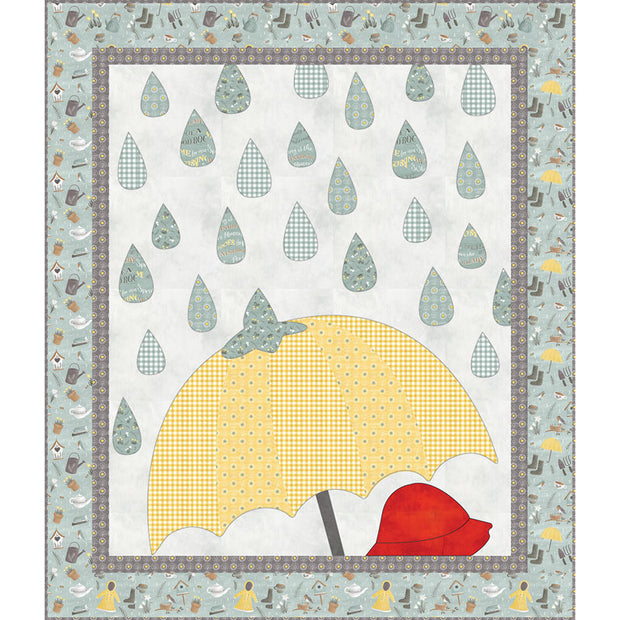Smitten for Spring Raindrops Quilt Kit