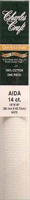 Aida Cloth 14 Cross Stitch Antique White 15 x 18