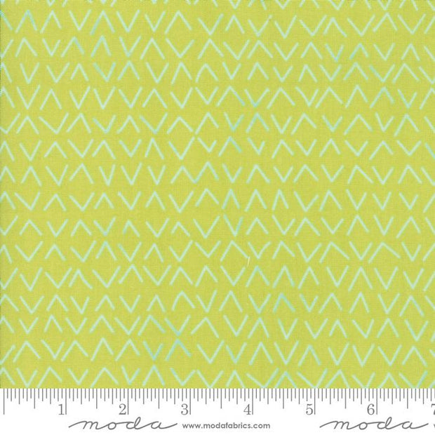 Day In Paris Chartreuse Metallic Arrows Light Green