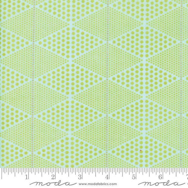 Day In Paris Chartreuse Metallic Diamonds Light Green