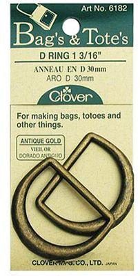 D Rings Antique Gold 3/4""