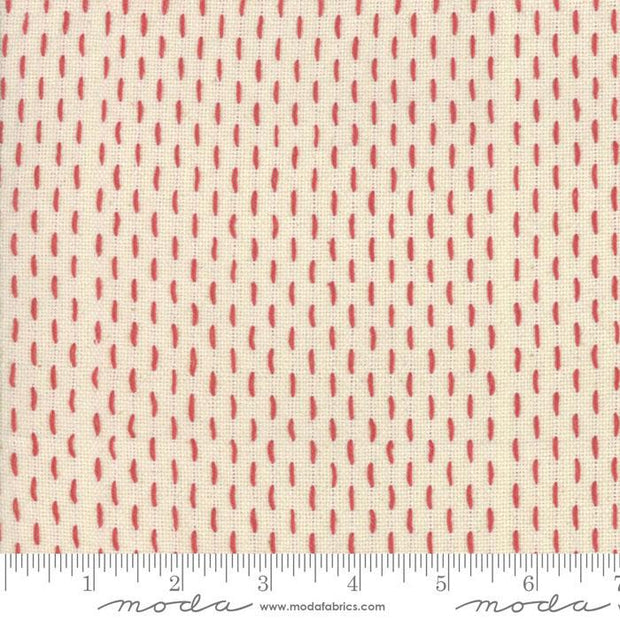 French Sashiko Pearl Red