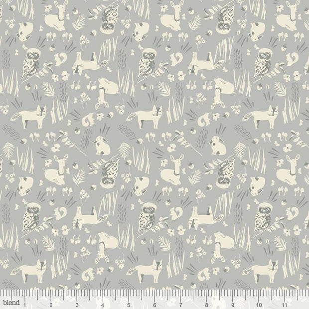 Enchanted Forest Friends Grey
