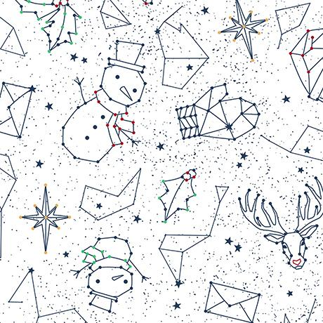 Twinkle Twinkle Christmas Constellations White