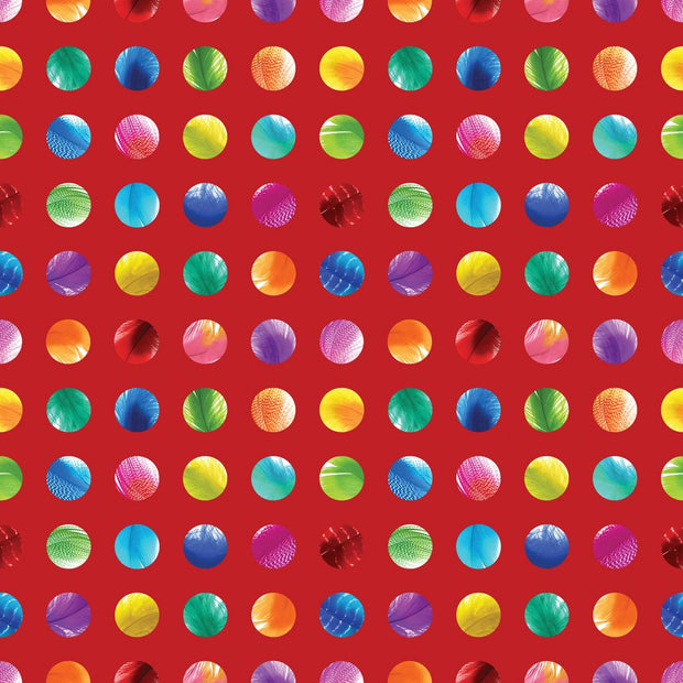 Basic Digital Dots Red Sunrise