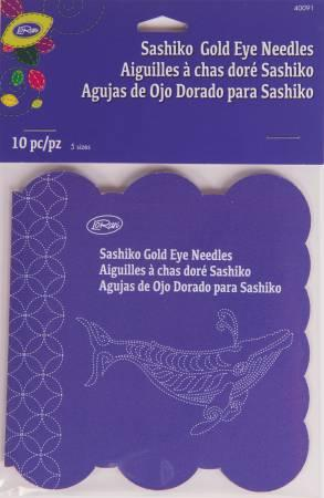Sashiko Gold Eye Needles 10 ct